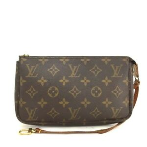 100 Percents Auth Louis Vuitton Monogram Pochette Accessories Pouch Hand Bag /R839 by Louis Vuitton