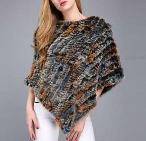 de tricot en Poncho Cape color fourrure Nouveau Wraps Stole Pull de vison Wrap Mixed BI5Scnqwn