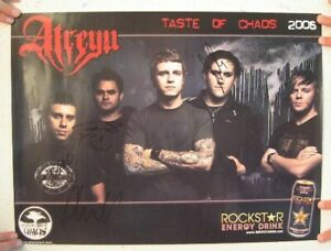 Atreyu-Poster-Taste-Of-Chaos-Two-Sided-Signed