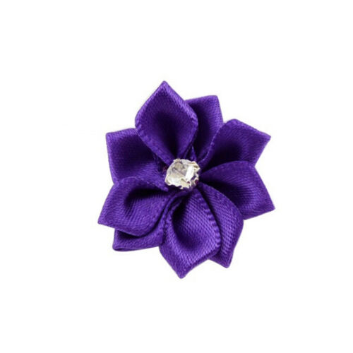 DIY 10 Baby Kids Satin Flower Hair Bow For Headband Hair clip Wedding Decor BSCA