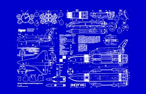 215 Soviet Buran Shuttle Blueprint Plan