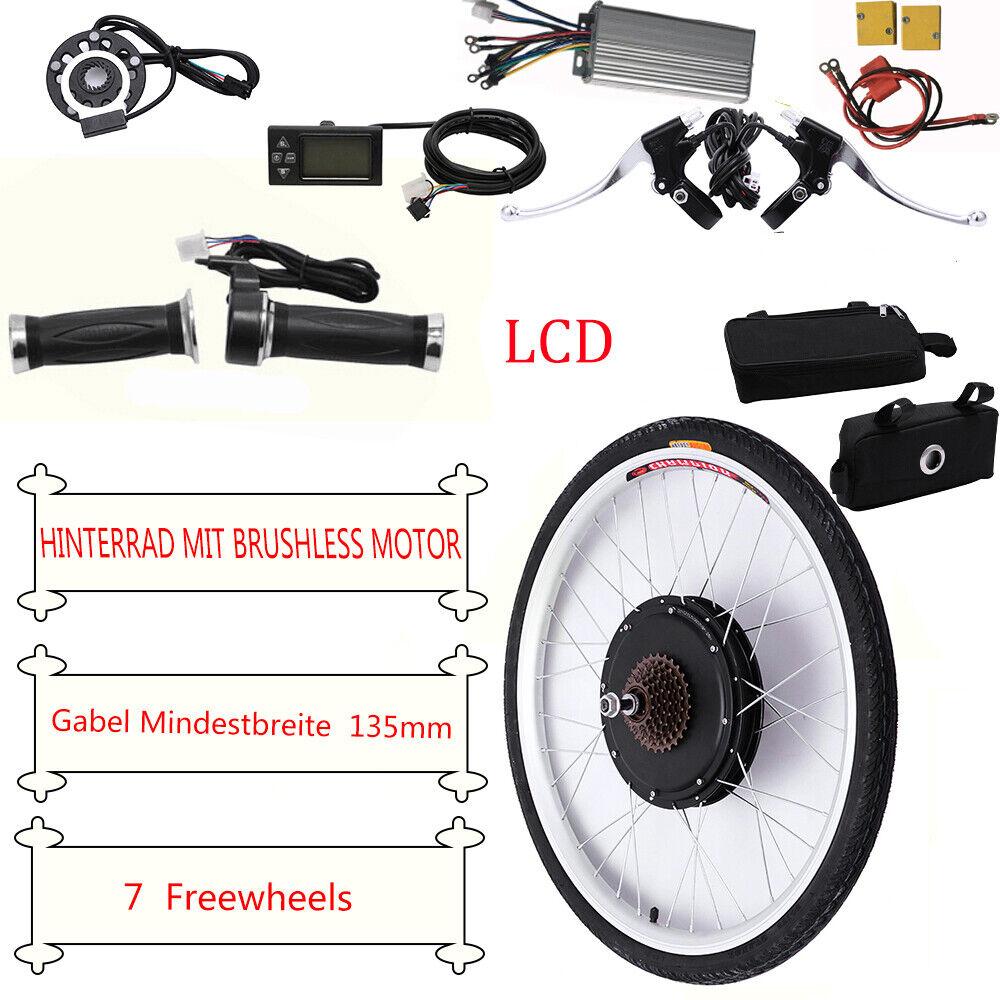 26 36V 500W800W kit di conversione bici elettrica per ruota posteriore  LCD