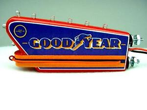 1-24 1-18 Scale Blue Blinking Sign Display 1950 s Goodyear Tire Dealer Diorama