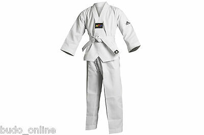 *SALE Adidas Taekwondo WTF suit uniform dobok Kids Childrens & white belt 150CM