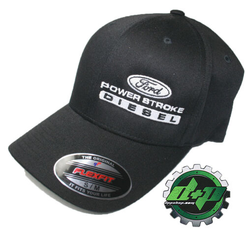 Ford Powerstroke hat ball cap fitted flex fit  flexfit stretch Black S//M