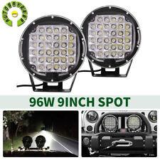 2x 9inch Pods Led Work Light Spot Lights Driving Truck Off Road Atv Truck Round