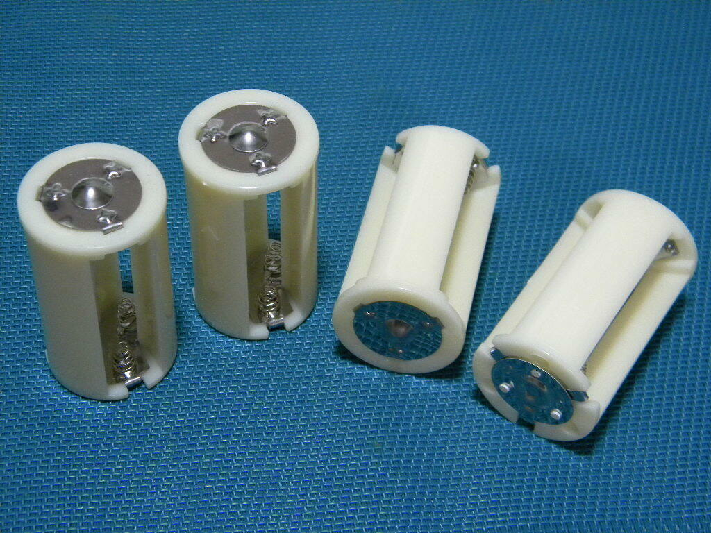 Battery Converter Changing 1-3 AA cells into a D cell 4-pcs set