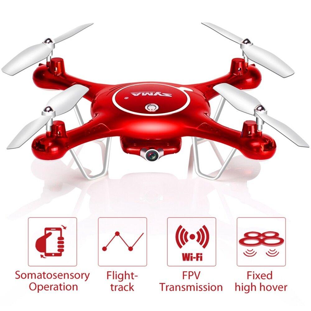 Syma x5uw RC Quadrocopter DRONE CON  HD 720p WIFI FOTOteletelecamera FPV Drone Elicottero  alta qualità genuina
