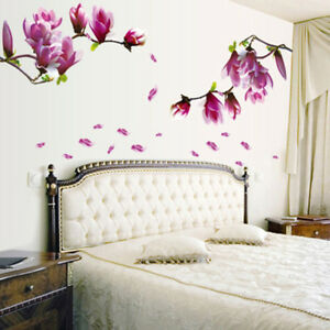 Removable-DIY-Magnolia-Flower-Wall-Decal-Vinyl-Sticker-Mural-Art-Room-Decor
