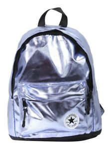 10a7785e5272 NWT Converse All Star Metallic Backpack Light Blue Daypack Shiny ...