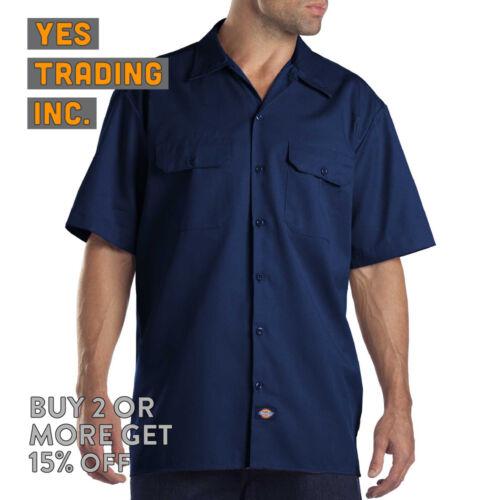 2 PACK DICKIES 1574 MENS WORK SHIRT BUTTON UP WORK UNIFORM SHORT SLEEVE DRESS