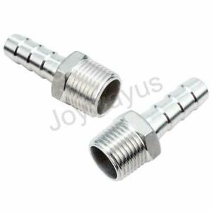 """SS304 5//8/"""" Hose Barb to 1/"""" Male NPT Home Brew Fitting Water Fuel Air"""