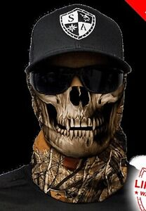 Salt armour forest skull camo face shield sun mask for Sa fishing face shield review