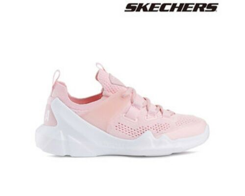 Skechers DLT-A Girls Locus Trainers with Air Cooled Memory Foam In Pink