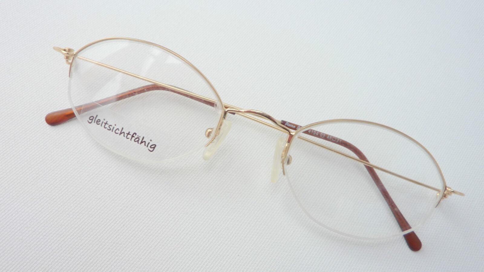 Pierre Bart Nylorbrille leicht Gold Brillenfassung Gestell oval Grösse M     | Am praktischsten