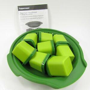 Tupperware-Smart-Steamer-Accessories-Set-Microwave-Cooking-Green-2066-6912