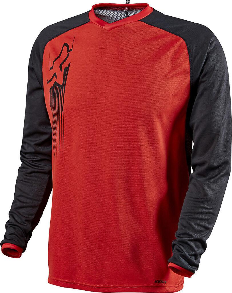 Fox Racing Indicator Long Sleeve LS Jersey rosso