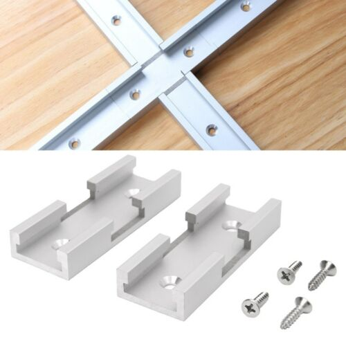 2Pcs T-Track Intersection Kit aluminium T-SLOT Connexion Pièces Woodworking Tools