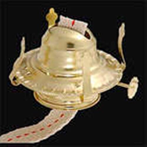 One Kerosene Oil Lamp Burner  #2 Size New Polished Brass Plated