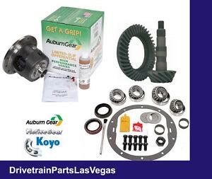 Auburn-Posi-Package-GM-7-5-034-3-73-Ratio-Gear-Set-Master-Bearing-Kit-1999-amp-Older