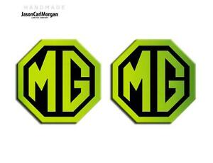 MG-TF-LE500-70mm-Badge-Insert-Set-Front-amp-Rear-Night-Glow-Green-Badges
