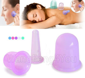 anti cellulite silicone massage vacuum cupping cup set slimming body facial cups ebay. Black Bedroom Furniture Sets. Home Design Ideas