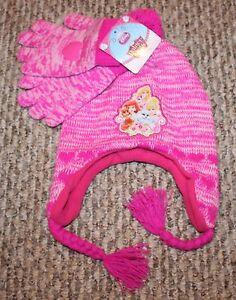 33d8ff44621 New! Girls Disney Princess Gloves Hat Set (Palace Pets  Pink) - One ...
