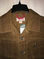 NEW WITH TAGS FILSON MADE IN USA OIL FINISH TIN CLOTH SHORT CRUISER JACKET S
