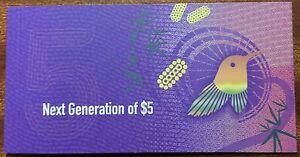 2016-Australia-new-5-bank-note-in-folder-first-prefix-AA160275201