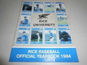 1984-Rice-University-Owls-Baseball-Official-Yearbook