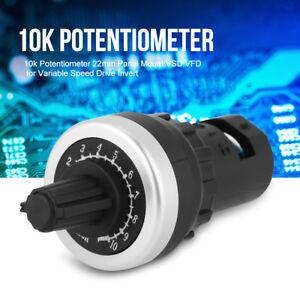 Panneau Potentiomètre 10k Rotatif VSD VFD 22mm pour Inverseur Variateur Vitesse
