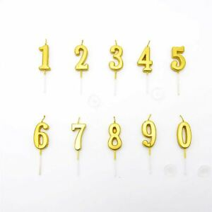 Image Is Loading Gold Numbers Candles Birthday Anniversary Party Cake Decorations