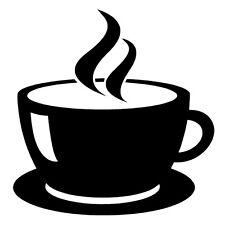 Cup Coffee Tea Internet Sign Cafe, Bar, Club, Office Shop Window Wall Sticker x1