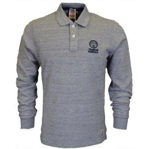 Franklin-amp-Marshall-Polo-Shirt-Logo-Grigio