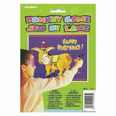 Pin the Tail on the Donkey Party Game for 16 Players Classic Childrens Game