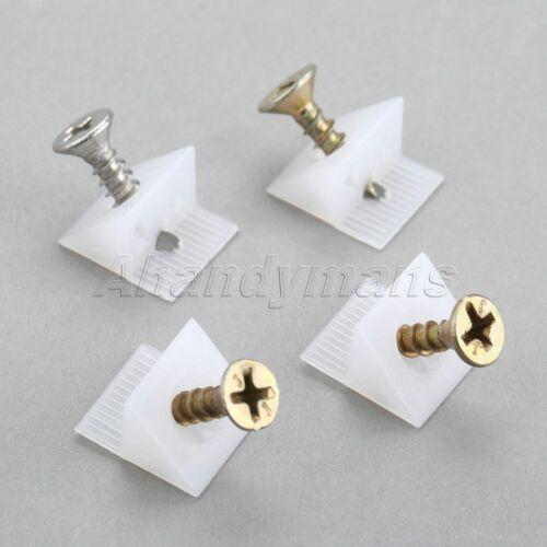 15*13*9.3mm Cabinets Furniture Back Panel Block Closets Corner Brackets 50Pcs