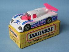 Matchbox Sauber Group C Racer White 50 Le Mans Race Toy Model Car Boxed 75mm