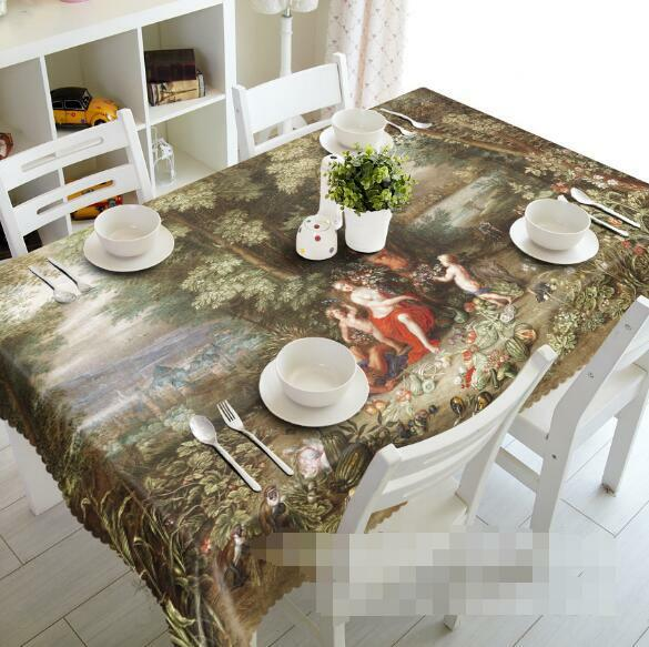 3D Ancients Life Tablecloth Table Cover Cloth Birthday Party Event AJ WALLPAPER