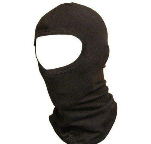 NEW BLACK COTTON FULL BALACLAVA KEEP COOL KEEP WARM GREAT FOR UNDER HELMET