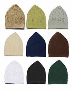 Muslim Prayer Hat, 100% cotton, Turkish Mercan Kufi Multi colours Adult One Size