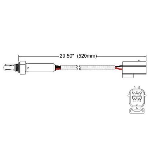 For Land Rover Discovery Range Rover 95-99 Oxygen Sensor 250 24804 Premium