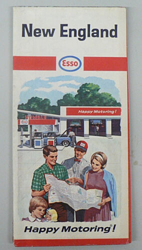 NEW ENGLAND ROAD MAP 1966 ESSO OIL CO