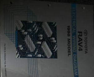 1998 Toyota Rav4 Rav 4 RAV4 Electrical Wiring Diagram EWD Service Shop Manual | eBay