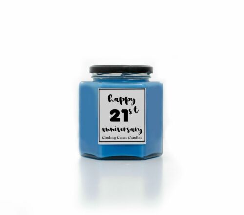 Scented Candle Candle Personalised Anniversary Gift Candles Anniversary Gift