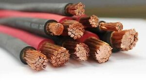 4 0 Awg Welding Cable Flexible 4 0 Gauge Black Or Red