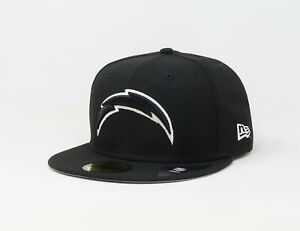 New-Era-Cap-59Fifty-Mens-NFL-Team-San-Diego-Chargers-Black-White-Fitted-Hat-5950