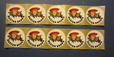 Lot of 10 Old Vintage BUSTER BROWN and TIGE / Dog - Advertising STICKERS