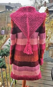 unikat Islandwolle Mit aus Strickjacke handmade Zipfelkapuze s 1xwqzU4zA