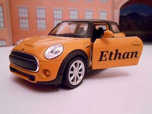 Personalised Any Name Mini Model Toy Car Boy Girl Birthday Gift