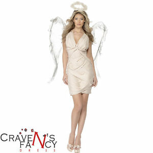 Adult-Ladies-Angel-Costume-and-Wings-Christmas-Fairy-Fancy-Dress-Outfit-New
